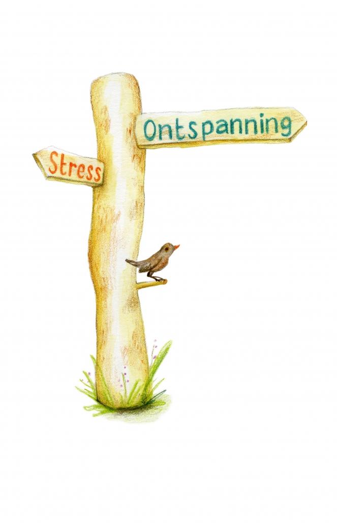 Wegwijzer: van stress naar ontspanning