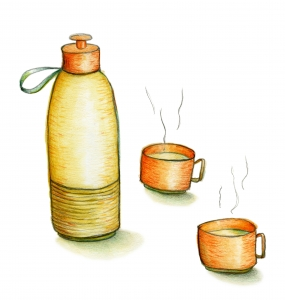 Thermosfles illustratie