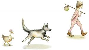 Zwerver wolf eend